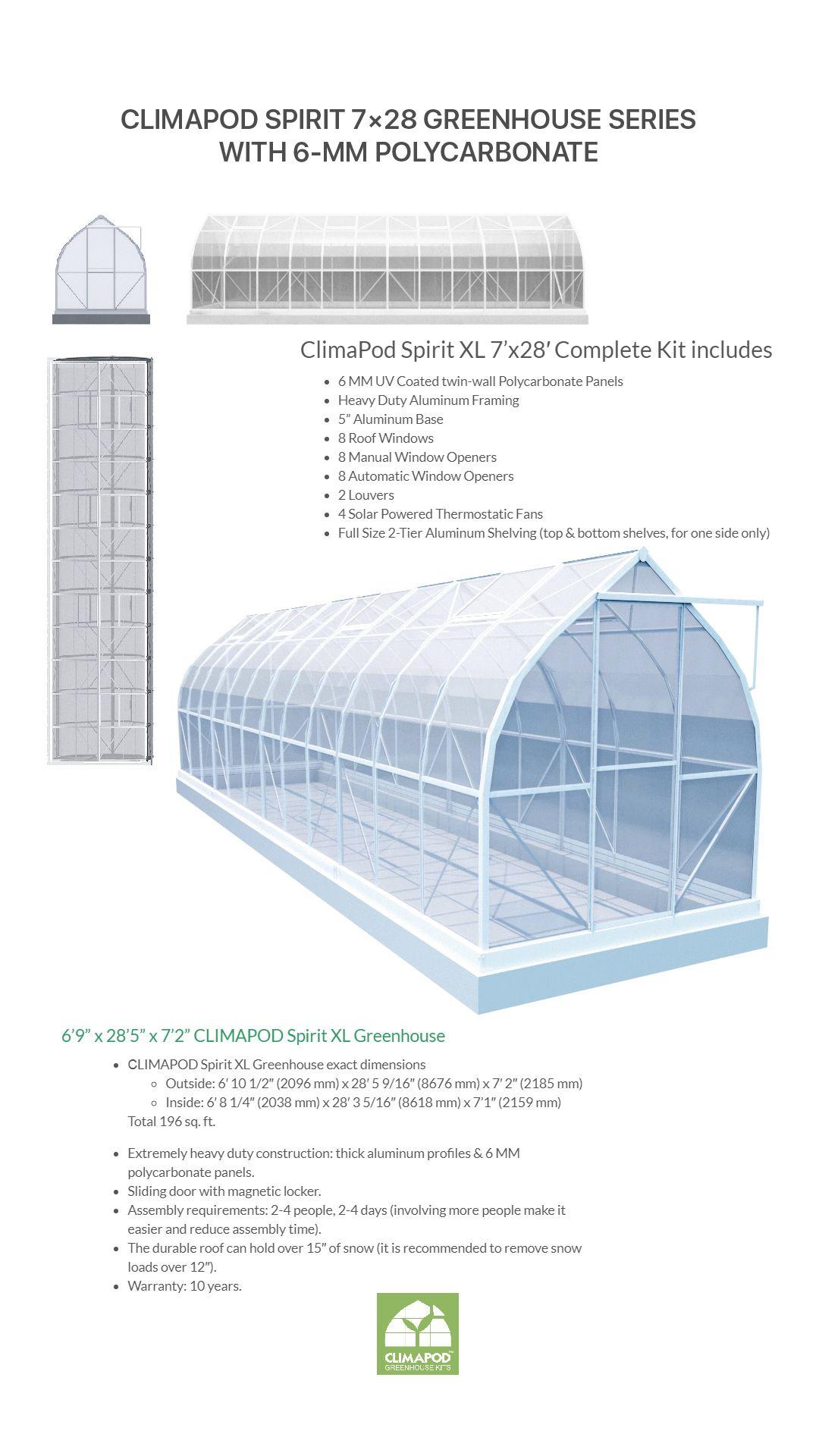Climapod Spirit Xl 7x28 7x35 7x42 Greenhouse Series With 6 Mm
