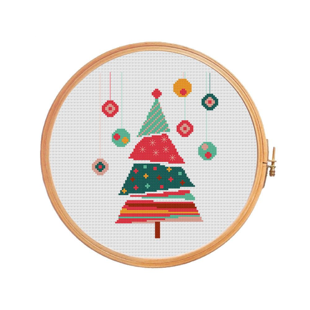 weihnachtsbaum weihnachten kreuz muster moderner. Black Bedroom Furniture Sets. Home Design Ideas