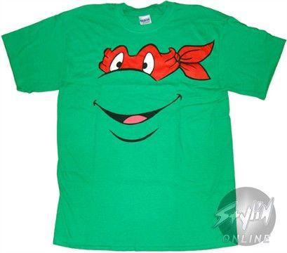 Teenage Mutant Ninja Turtles Raphael Face T-Shirt