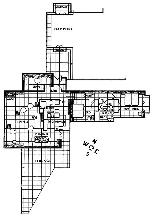 Frank lloyd wright frank lloyd wright pinterest Frank lloyd wright floor plan