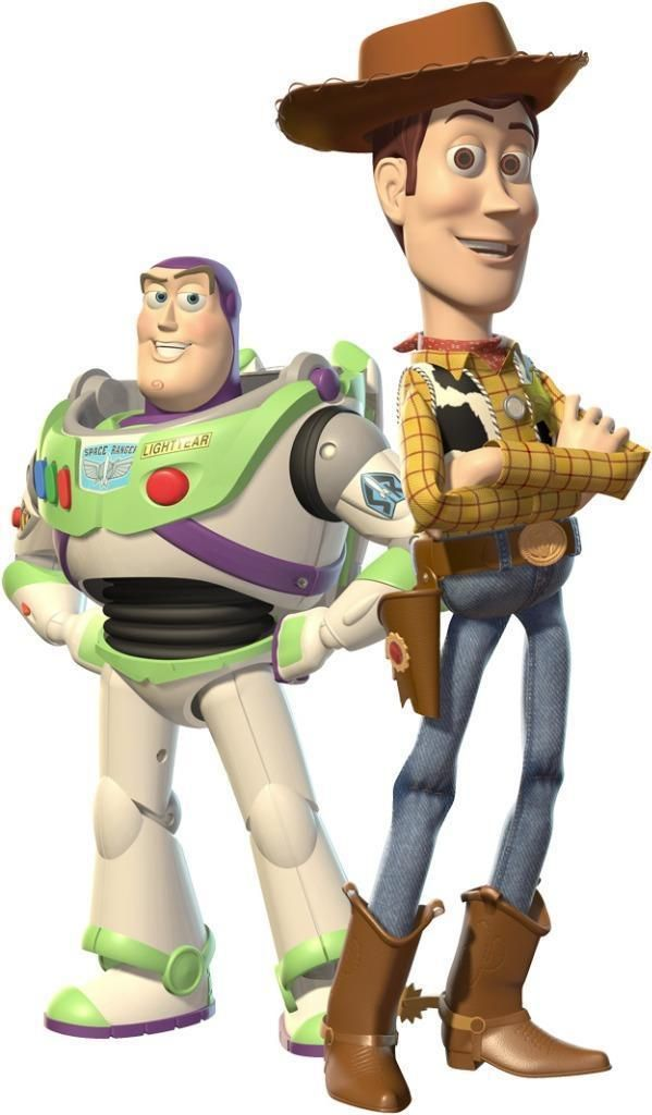 Choose Size- WOODY & BUZZ Toy Story Decal Removable WALL STICKER Decor Art Movie  | eBay