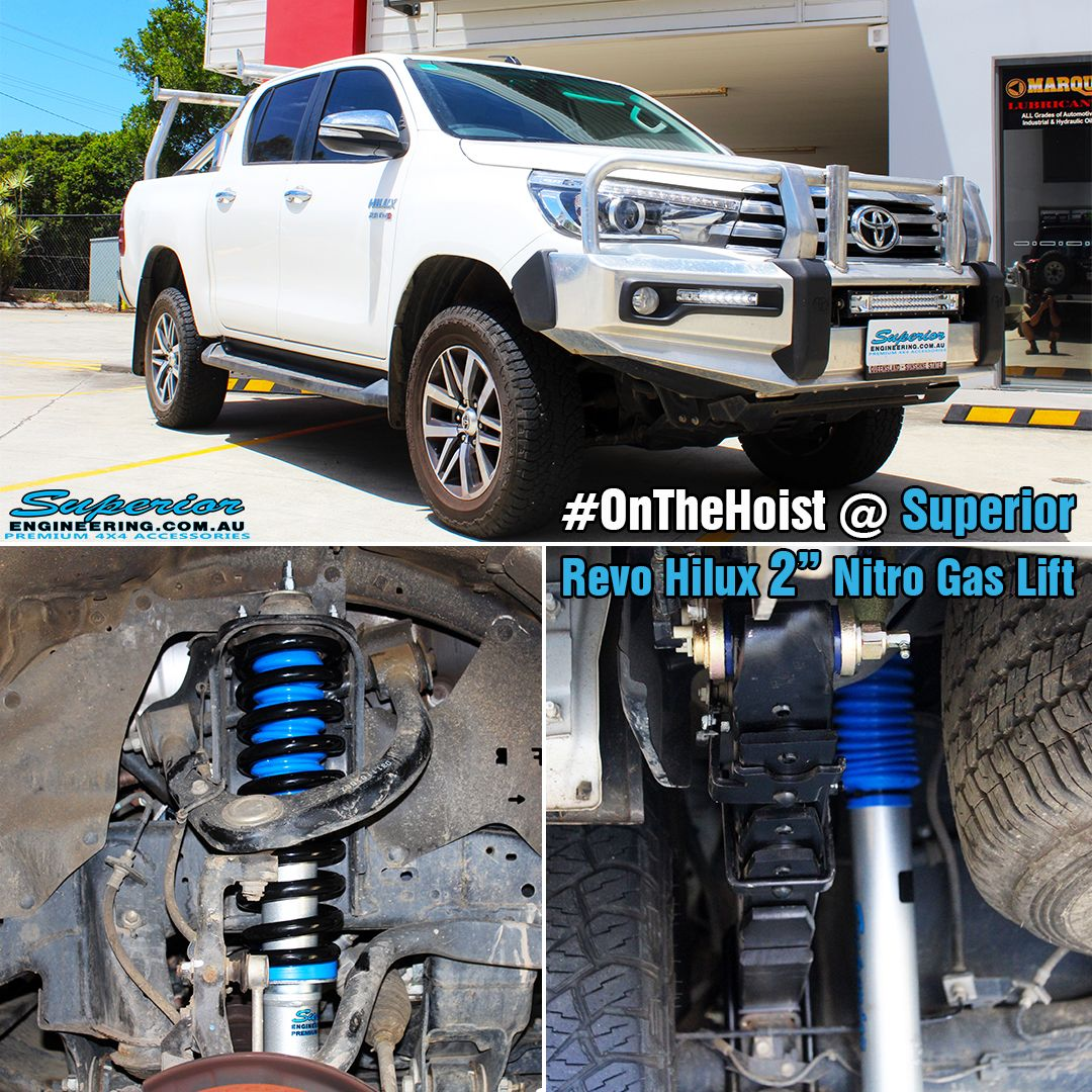 This Revo Hilux recently visited the hoist at Superior