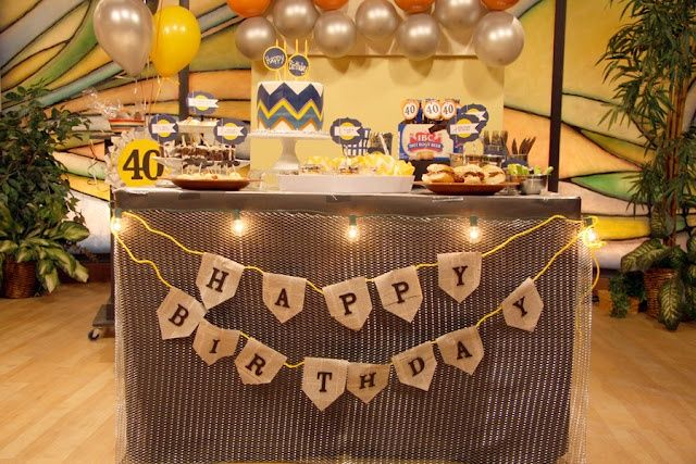 40 Birthday Party Ideas Men Masculine Man Birthday Party Ideas