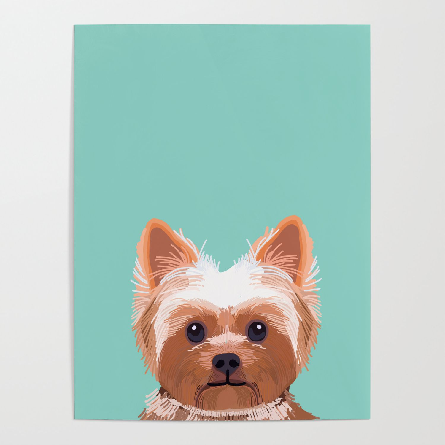 Yorkshire Terrier Dog Portrait Pink Cute Art Gifts For Yorkie Dog Breed Lovers Poster By Petfriendly Dog Portraits Yorkie Dogs Yorkshire Terrier Dog [ 1500 x 1500 Pixel ]