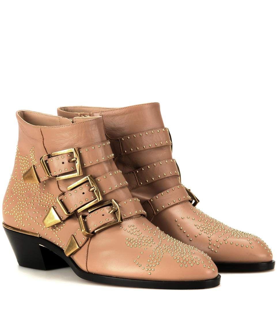677b8c8d0266 Chlo¨¦ Ankle Boots Susanna aus Leder