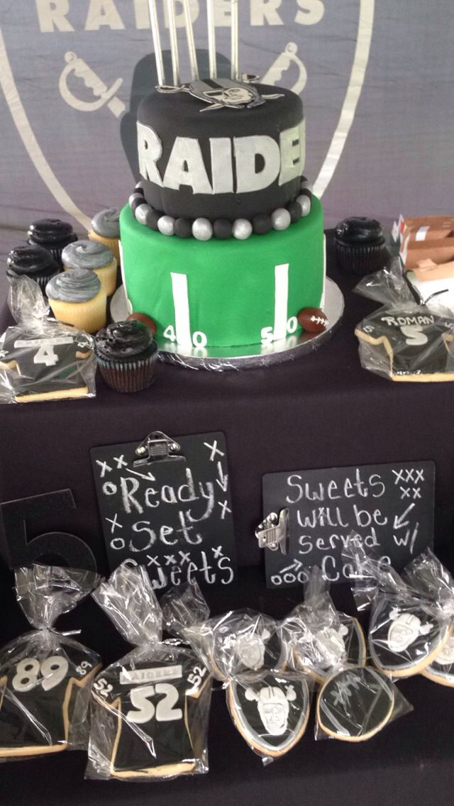 Oakland Raiders Dessert Table My Party Crafts Pinterest