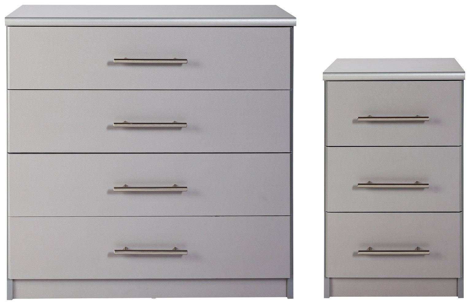 Buy Argos Home Normandy Bedside & 9 Drawer Chest Set - Grey