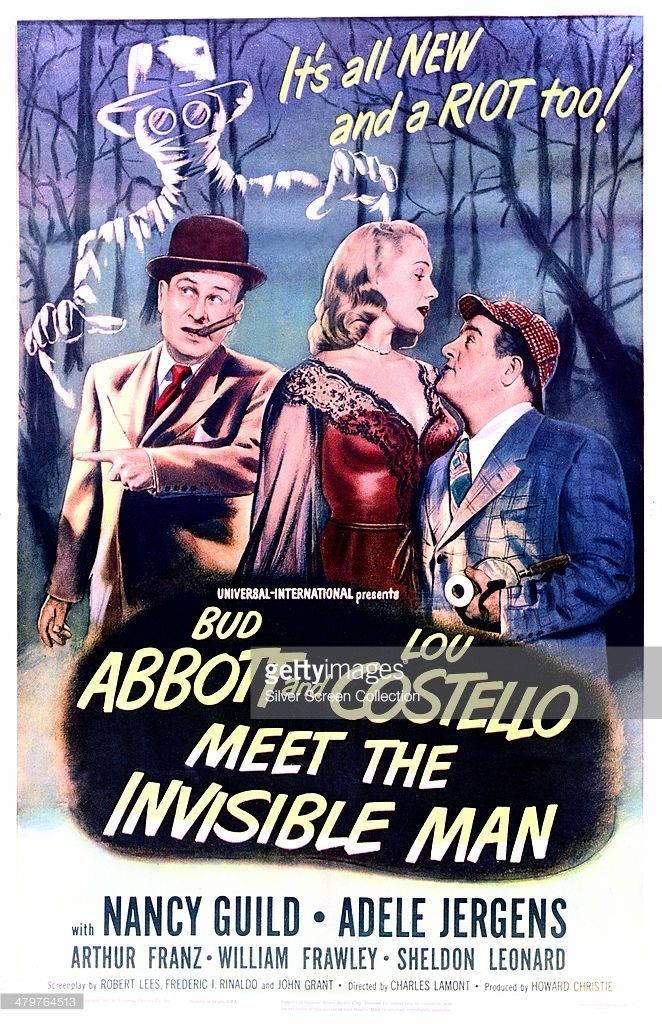 Abbott And Costello Meet The Invisible Man A Poster For Charles Lamont S 1951 Comedy Horror Film Abbott And Abbott And Costello Invisible Man Comedy
