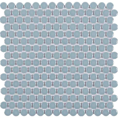 Satori Hudson Pastel Glazed 12 In X 12 In Glossy Porcelain Penny Round Mosaic Wall Tile Lowes Com Mosaic Wall Tiles Penny Round Mosaic Mosaic Wall