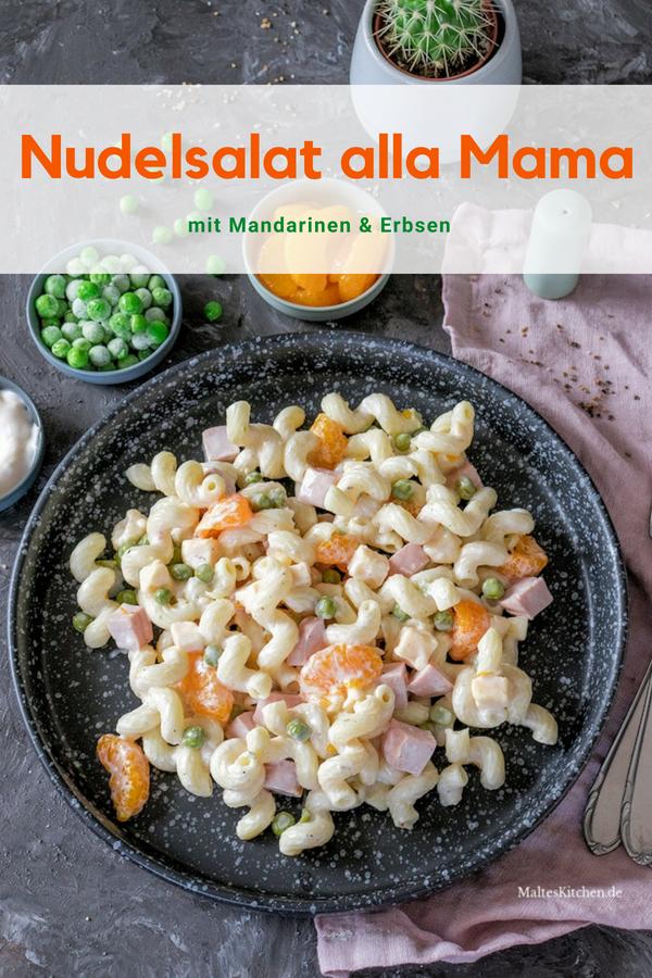 Omas Nudelsalat mit Mandarinen und Erbsen von Koelkast