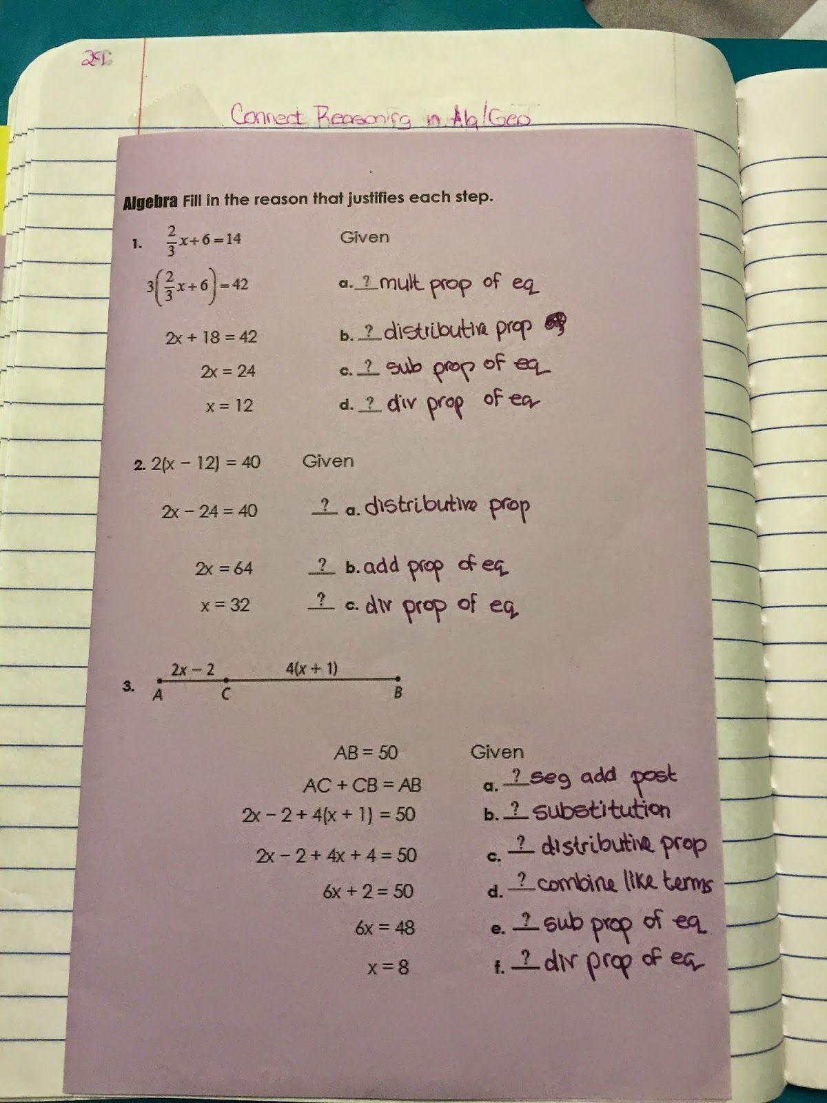 Misscalcul8 Geometry Unit 2 Logic Interactive Notebook
