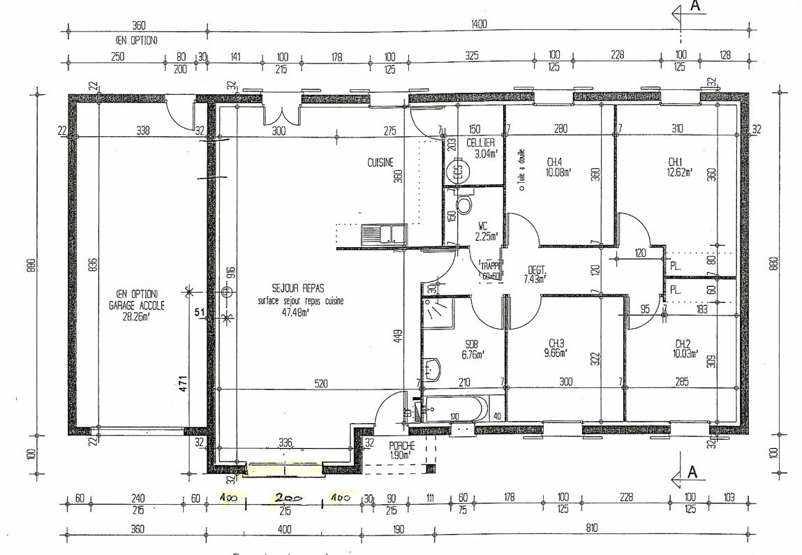 Plan De Maison 2d House Drawing Autocad 2 Archicad 2d