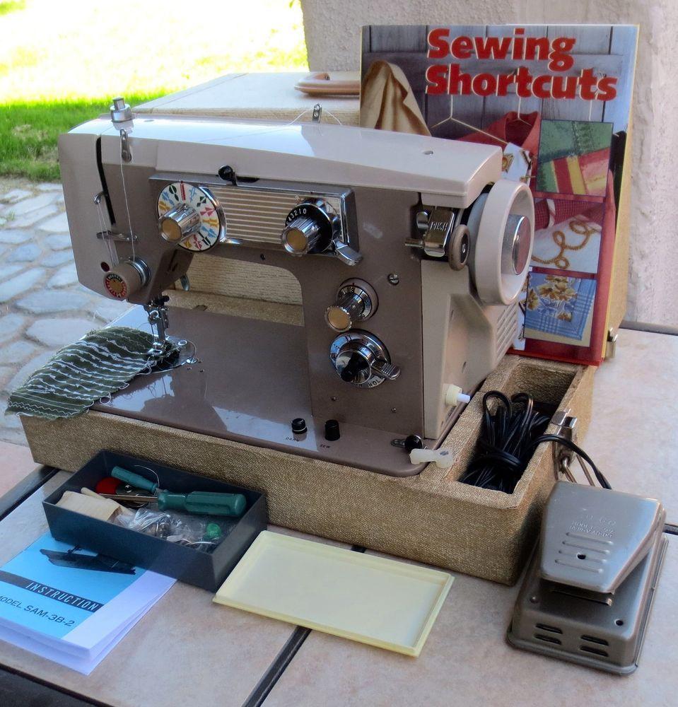 Beautiful J A38 Sam3b 2 Nelco Japan Sewing Machine All Metal Ex Singer 648 Threading Diagram