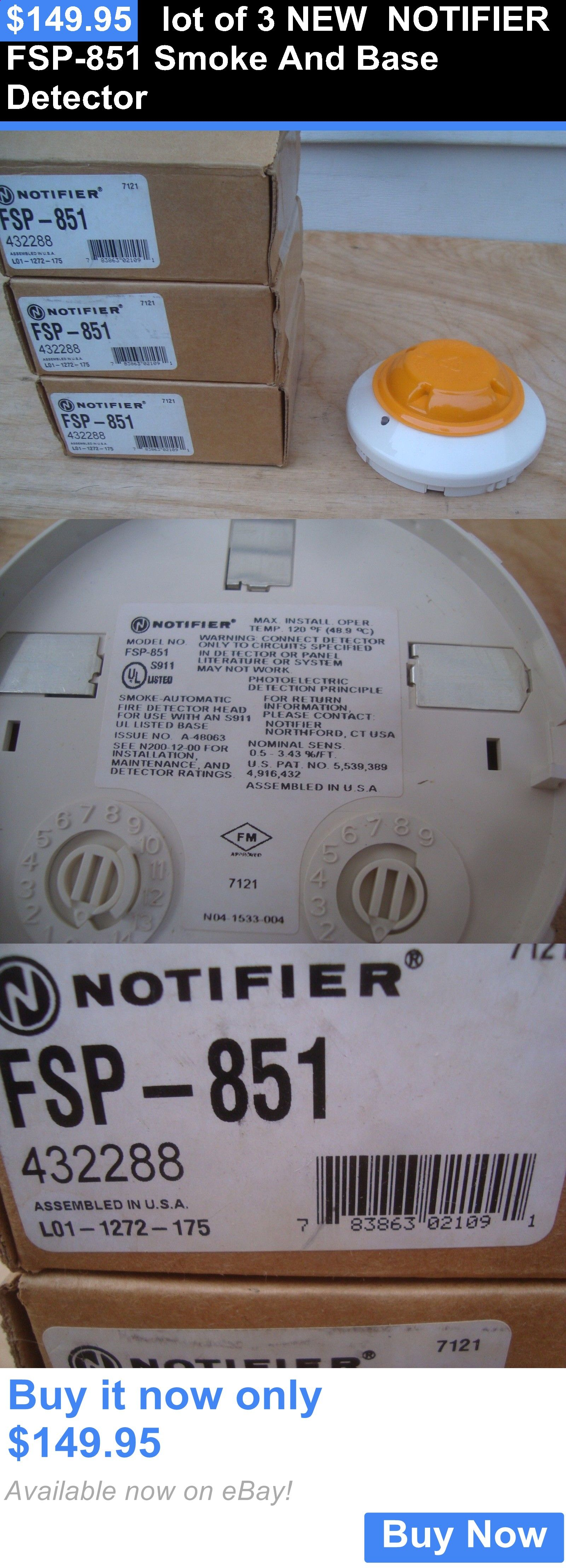Other Consumer Electronic Lots: Lot Of 3 New Notifier Fsp-851 Smoke And Base Detector BUY IT NOW ONLY: $149.95