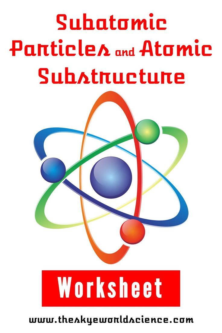 Subatomic Particles and Atomic Substructure Worksheet