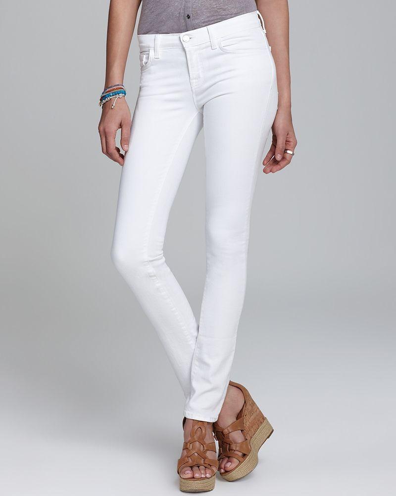 J brand the rail mid rise skinny jeans