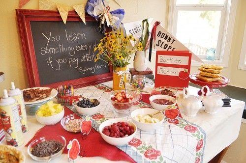 Perfect Boyu0027s Back To School Breakfast Party Table Ideas