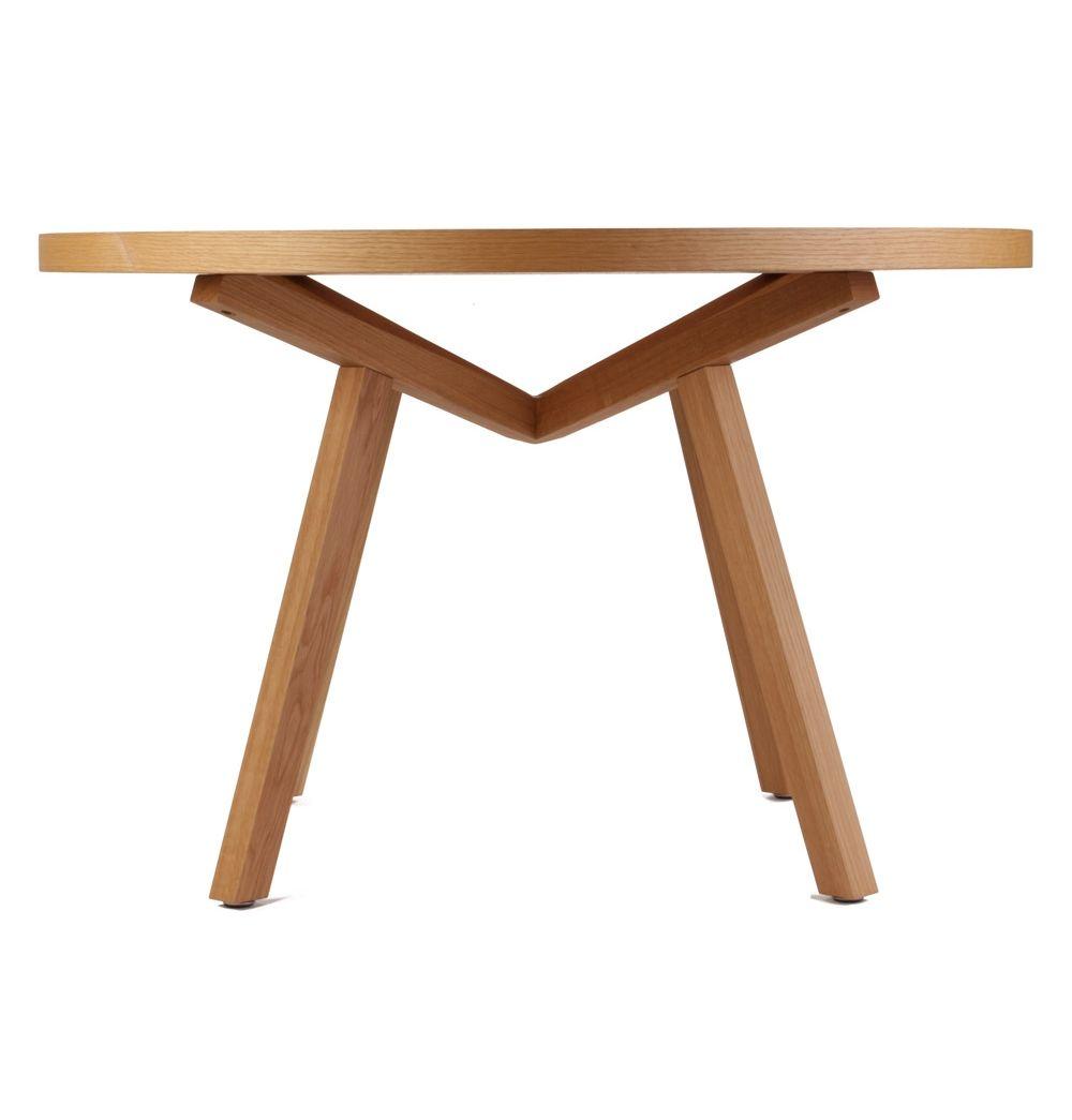 Original Sean Dix Forte Coffee Table Round Glass: ORIGINAL Sean Dix Forte Round Timber Dining Table