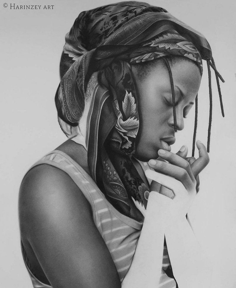 Take your time to admire the exquisite work of nigerian artist arinze stanley arinze has some impressive hyperreal pencil drawings