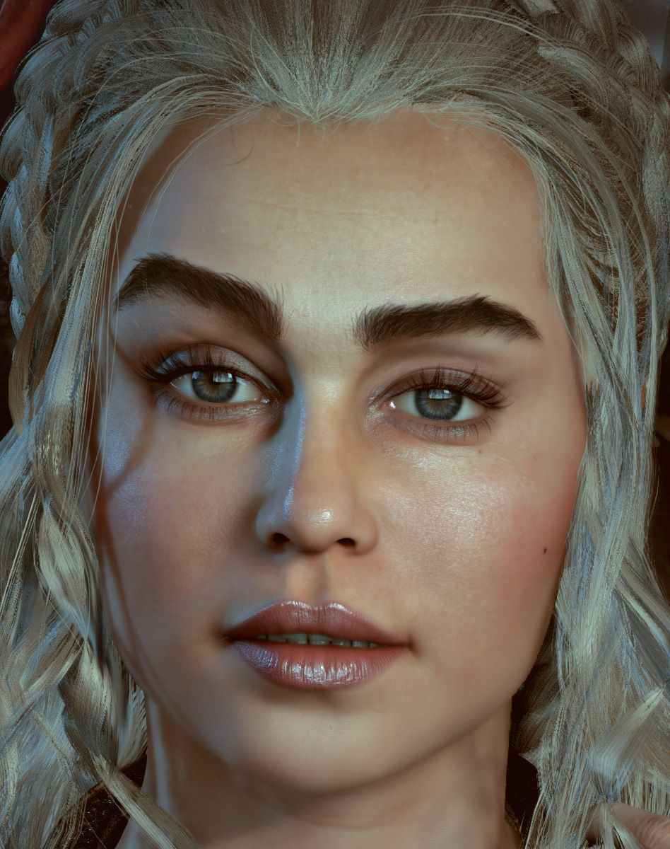 Khaleesi:The throne is mine! Realtime character Unreal