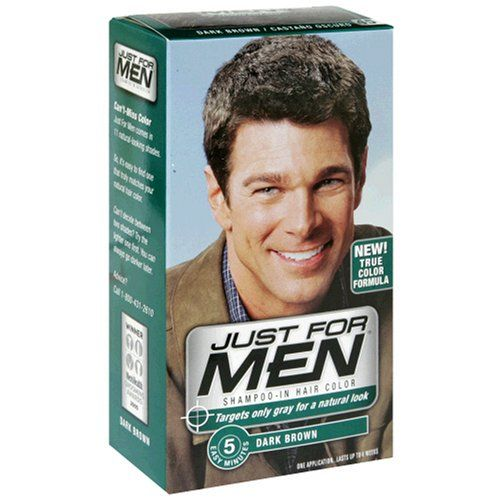 Just for Men Shampoo In Hair Color, Dark Brown H-45, 1 application ...