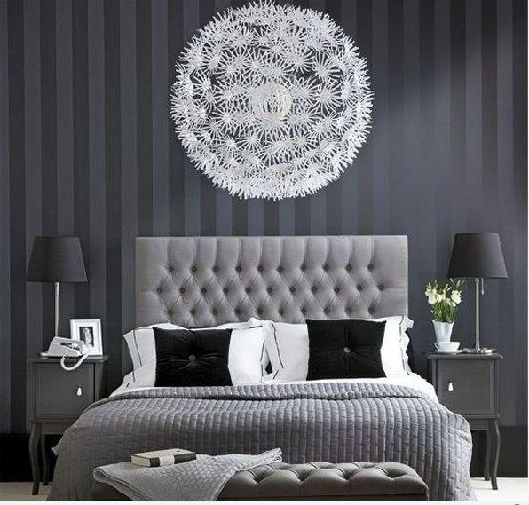 15 einzigartige Schlafzimmer Ideen in Schwarz-weiß Interior - schlafzimmer schwarz