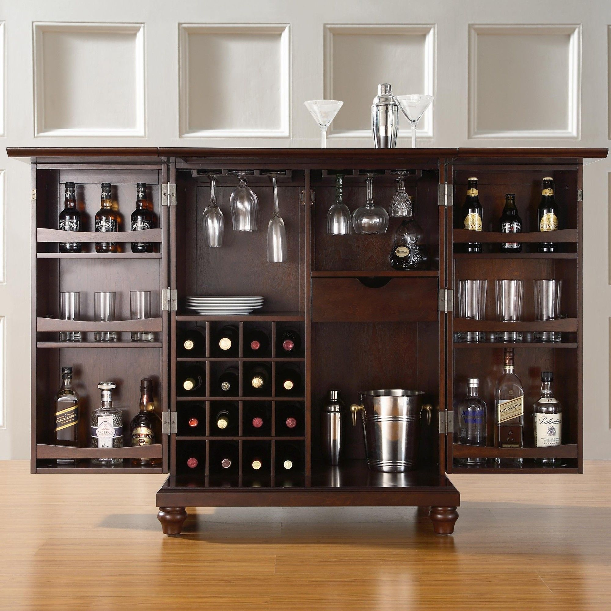 Crosley Furniture Cambridge Expandable Bar Cabinet 80 Top Home Bar Cabinets Sets And Wine Bars 2019