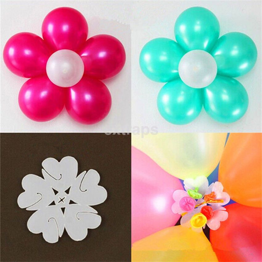 Pack Of 10 Balloon Flower Clips Ties For Party Decoration Accessories Tie Holder Ebay Home Garden Baloon Decorations Balloon Flowers Balloon Decorations