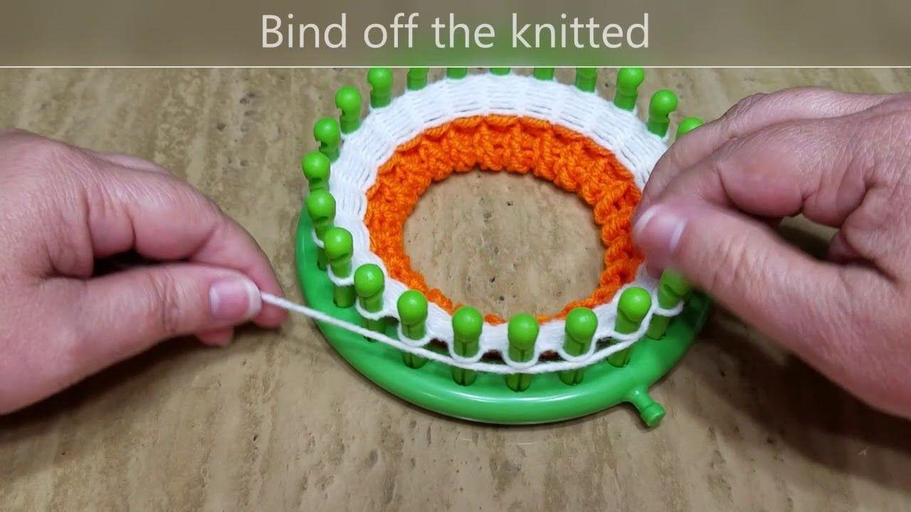 How To Loom Knit Coasters Candy Corn Coaster Knit Coaster Loom