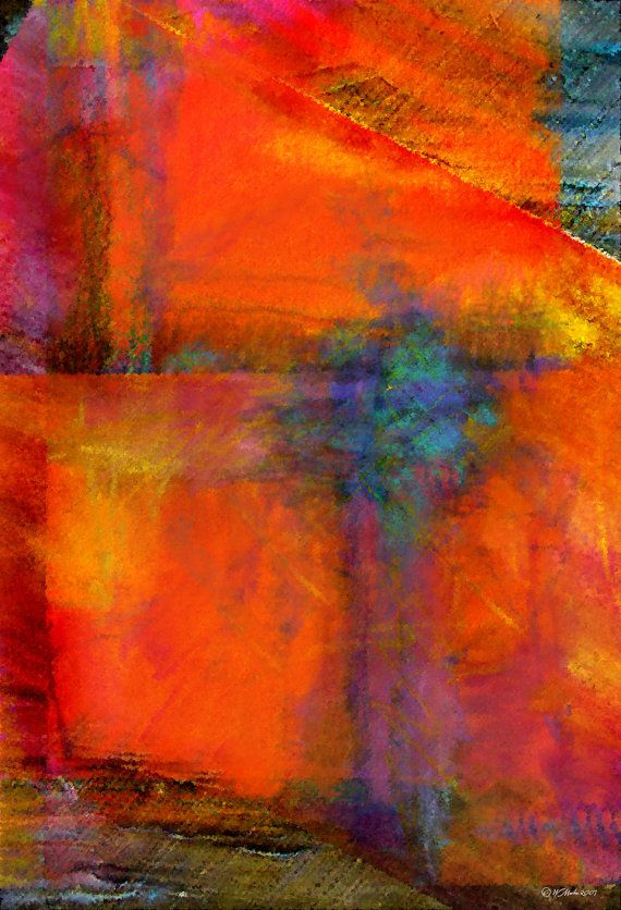 ORANGE Abstract Painting Abstract Art Digital By WiMDesigns,
