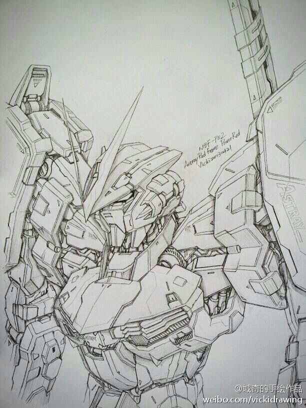 Gundam And Mobile Suit Pencil Drawings By Vicki Via Pixiv 스케치