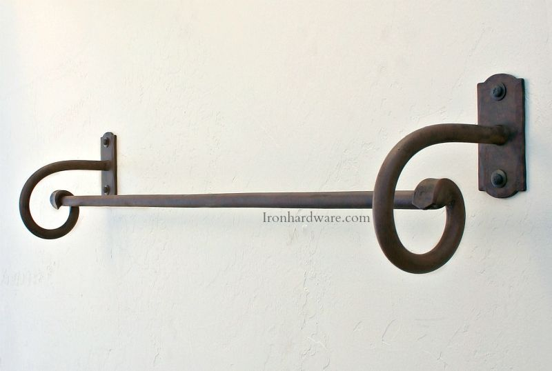 Wrought Iron Towel Bars and Bathroom Hardware - Paso Robles Ironworks