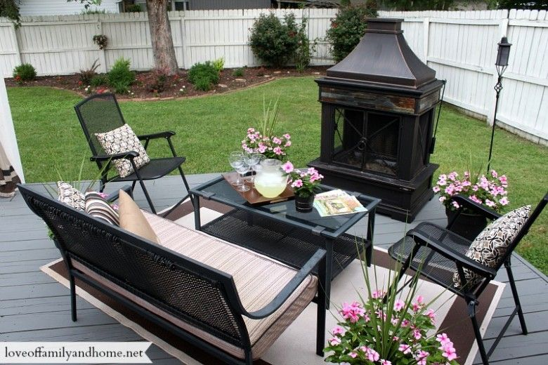 Allen Roth Brown Steel Outdoor Wood Burning Fireplace From