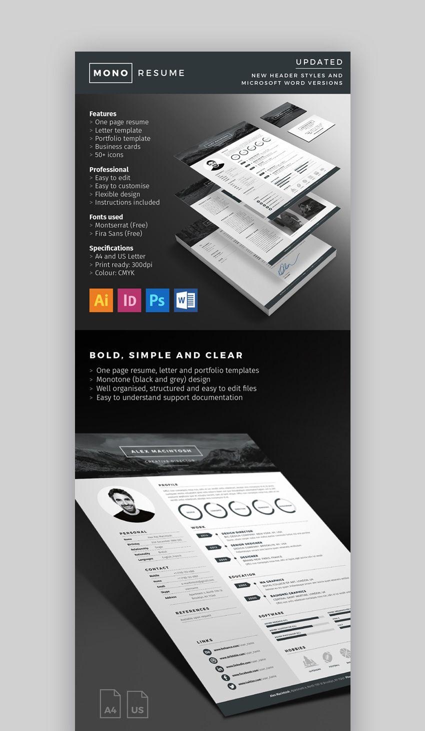 29 modern resume templates with clean elegant cv