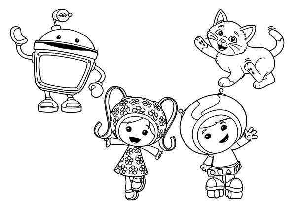 How To Draw Team Umizoomi Coloring Page Color Luna In 2020 Coloring Pages To Print Coloring Pages Team Umizoomi
