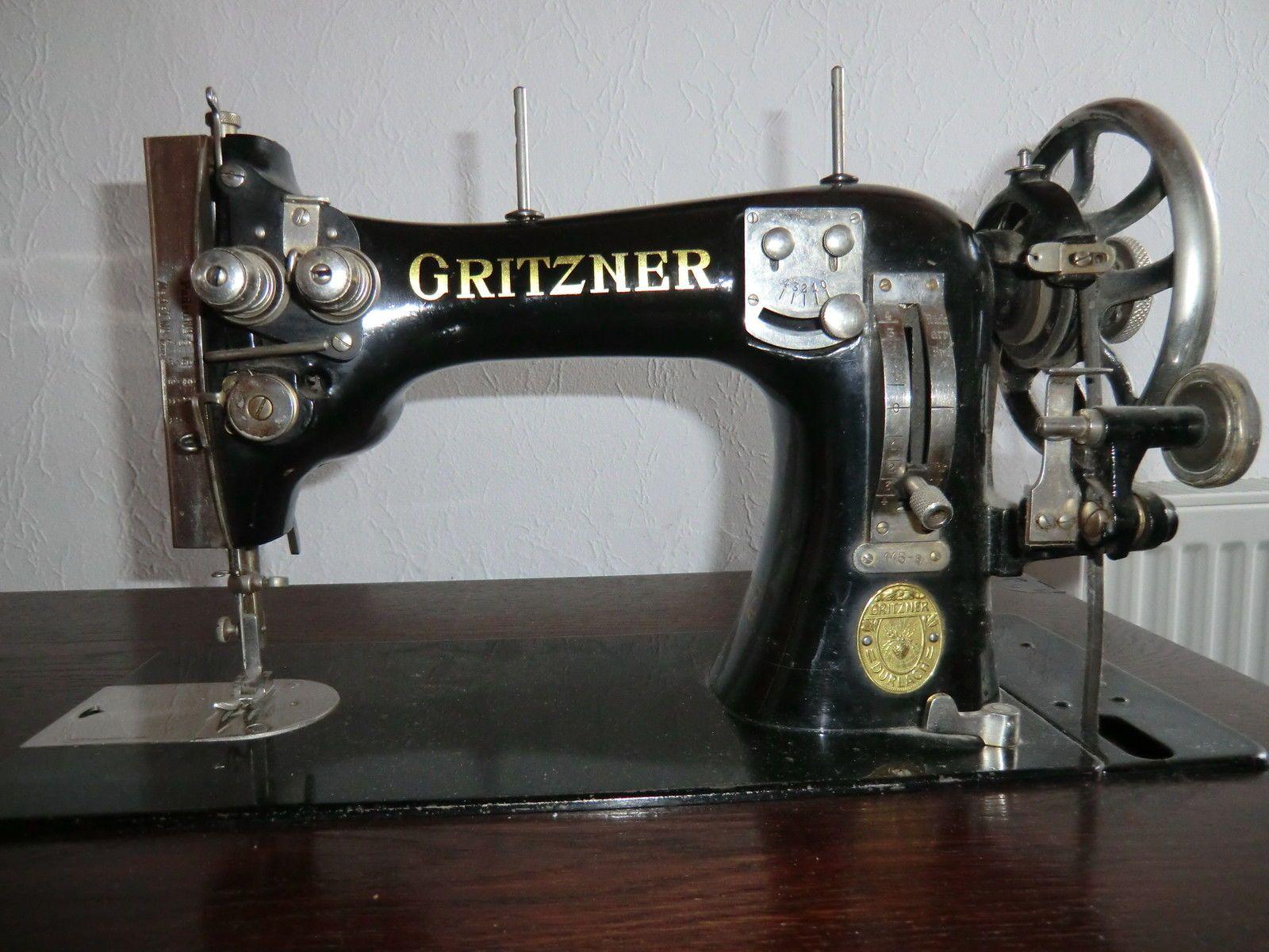 alte n hmaschine der marke gritzner in in donzdorf ebay gritzner pinterest. Black Bedroom Furniture Sets. Home Design Ideas