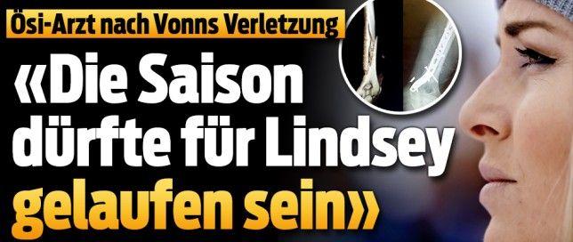 Lindsey Vonn stürzt im SG-Training >Oberarm-Bruch 12-Nov