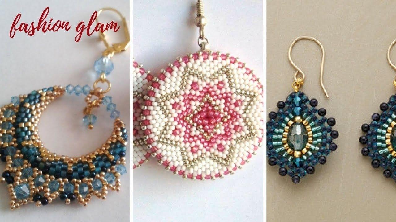 Diy Seeds And Beads Earrings Beaded Hoop Earrings With Bugle