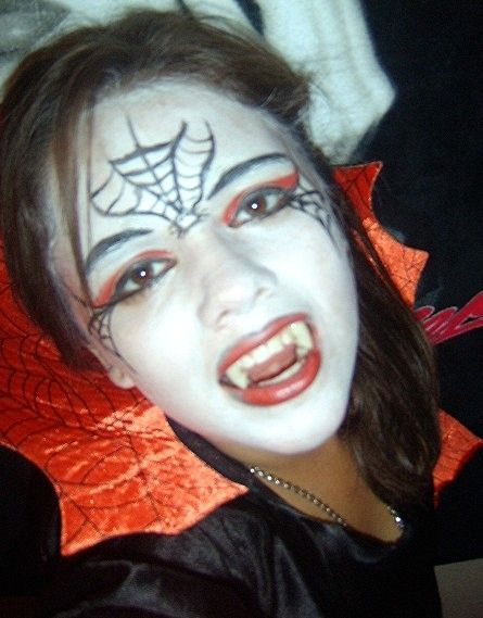 Vampire Natural Face Paint Design Colors Used Black White Red Each Organic Fa Clown Halloween Costumes Face Painting Halloween Halloween Costumes Makeup