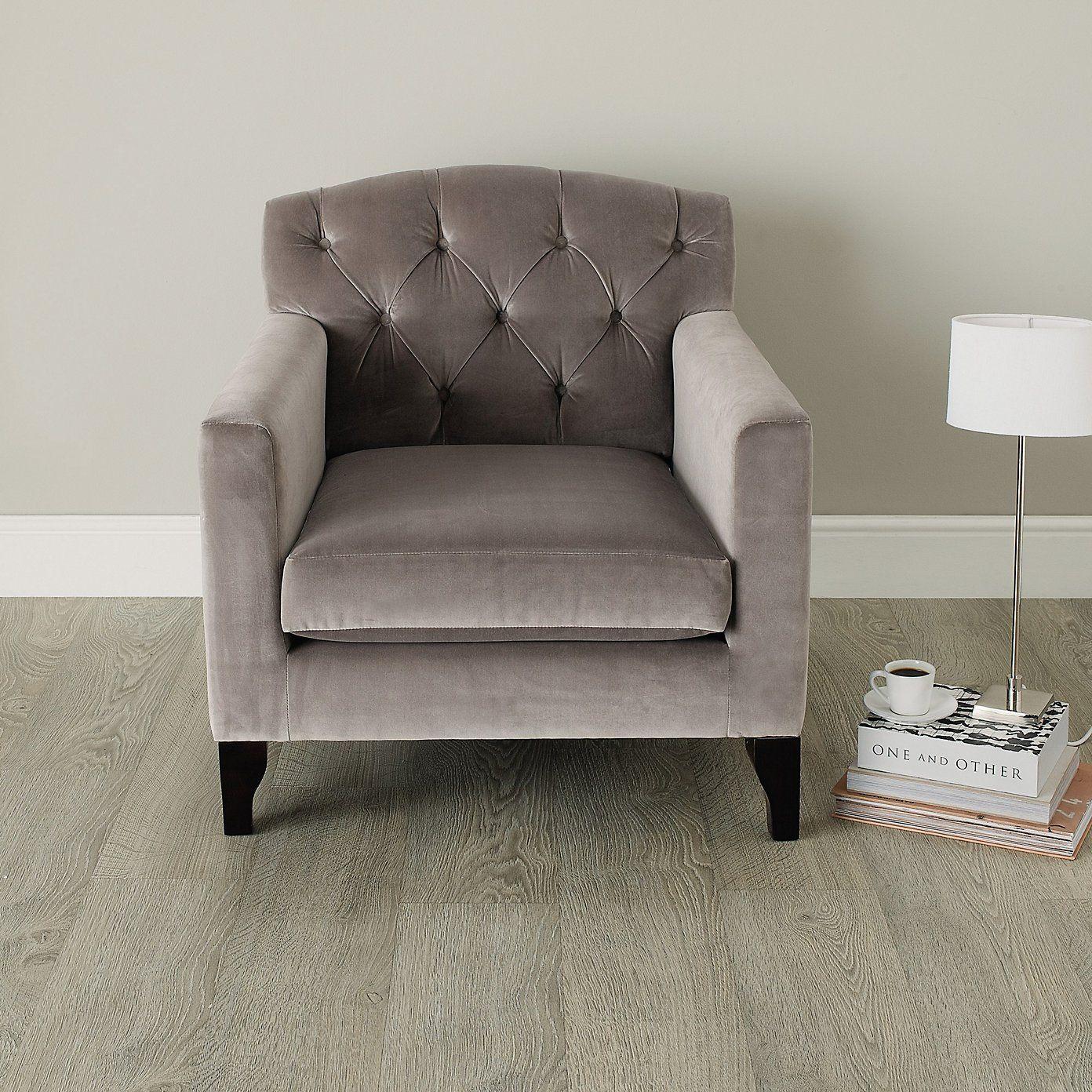 Eaton Armchair - Silver & Stone | The White Company ...