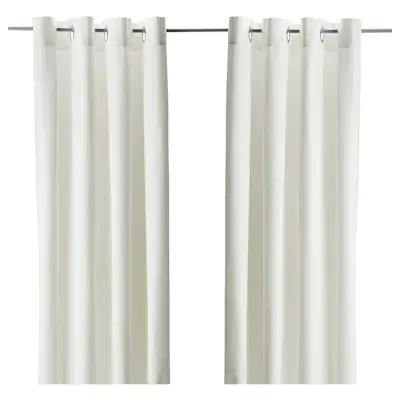Buy Merete Room Darkening Curtains Online Uae Ikea In 2021 Cream Curtains Room Darkening Curtains Merete Curtains