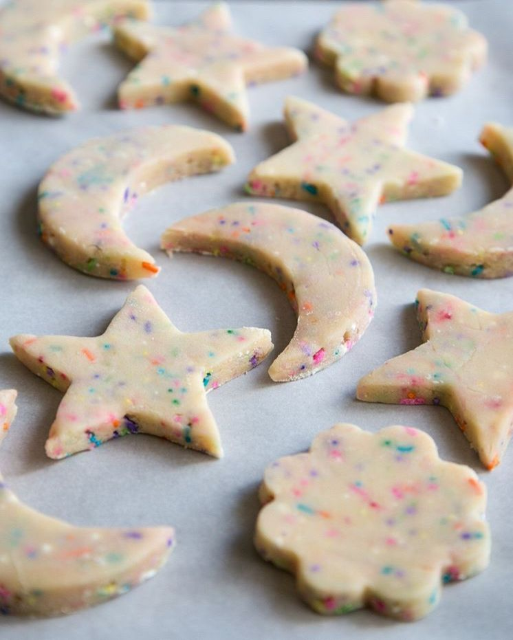 Wild Wild Whisk Classic Shortbread Cookies With Unicorn Sprinkles