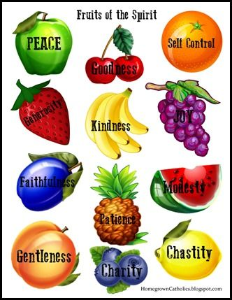 Homegrown catholics st brigids academy blog forever for Fruit of the spirit goodness craft