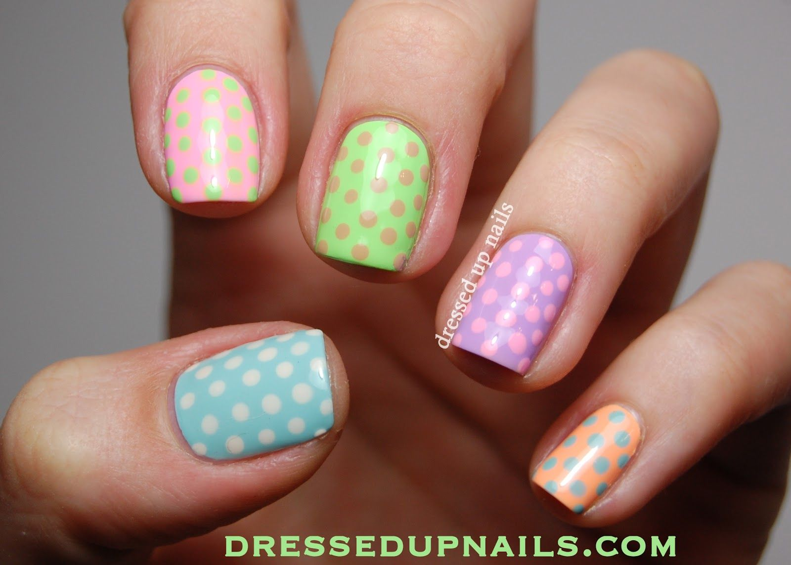 Dressed Up Nails Pastel Skittle Nail Art With Lime Crime Polishes