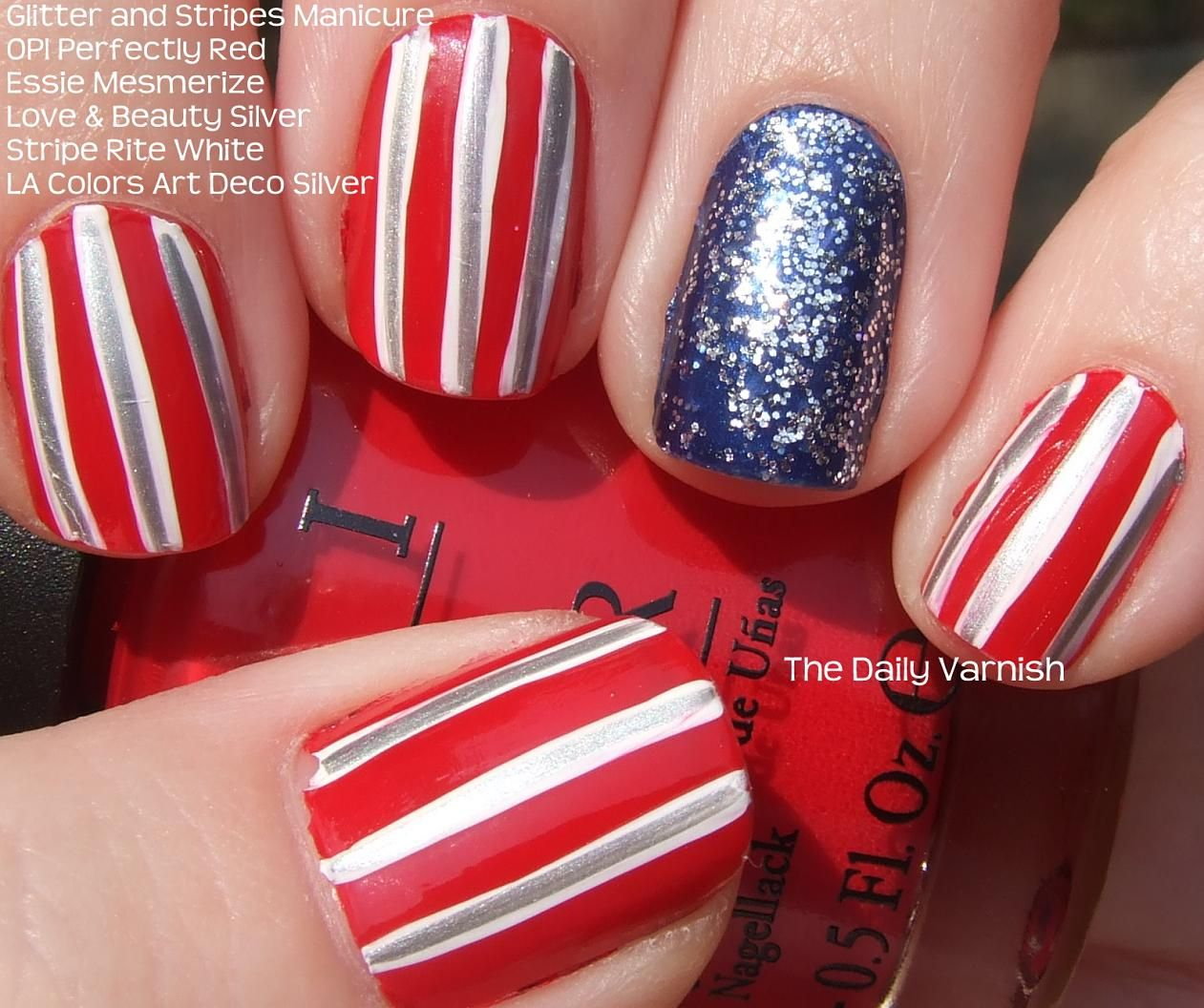Independence Day Nails ... tried and failed miserably!  okay, need smaller brushes next time.