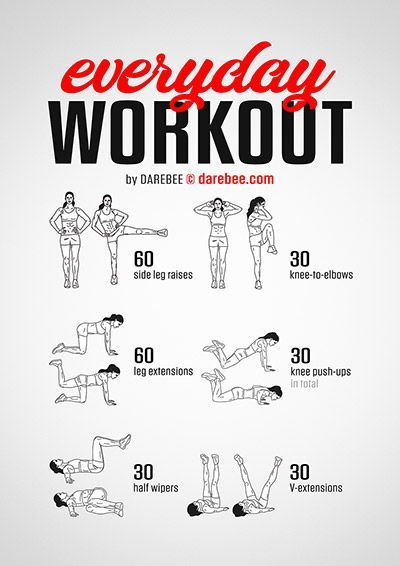 The best workouts are the ones you can do everyday and here is your everyday workout.   Are you read...