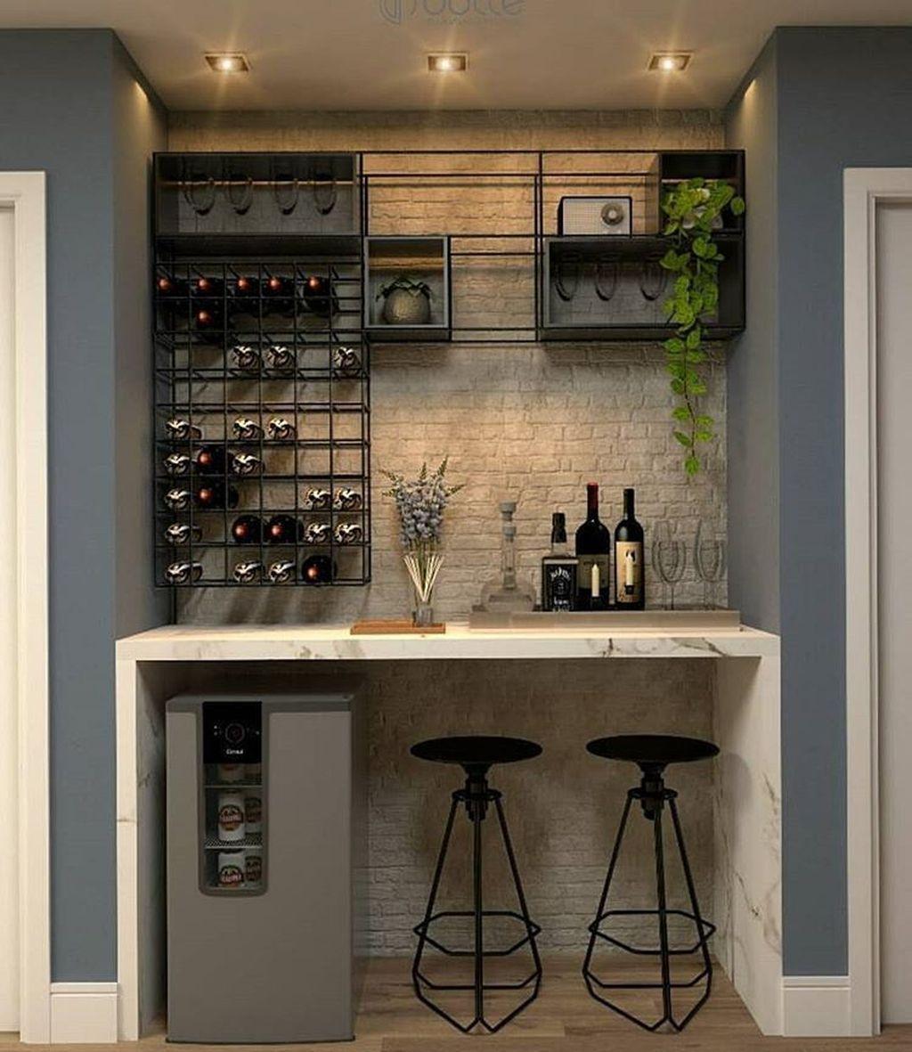 33 Popular Small Home Bar Design Ideas