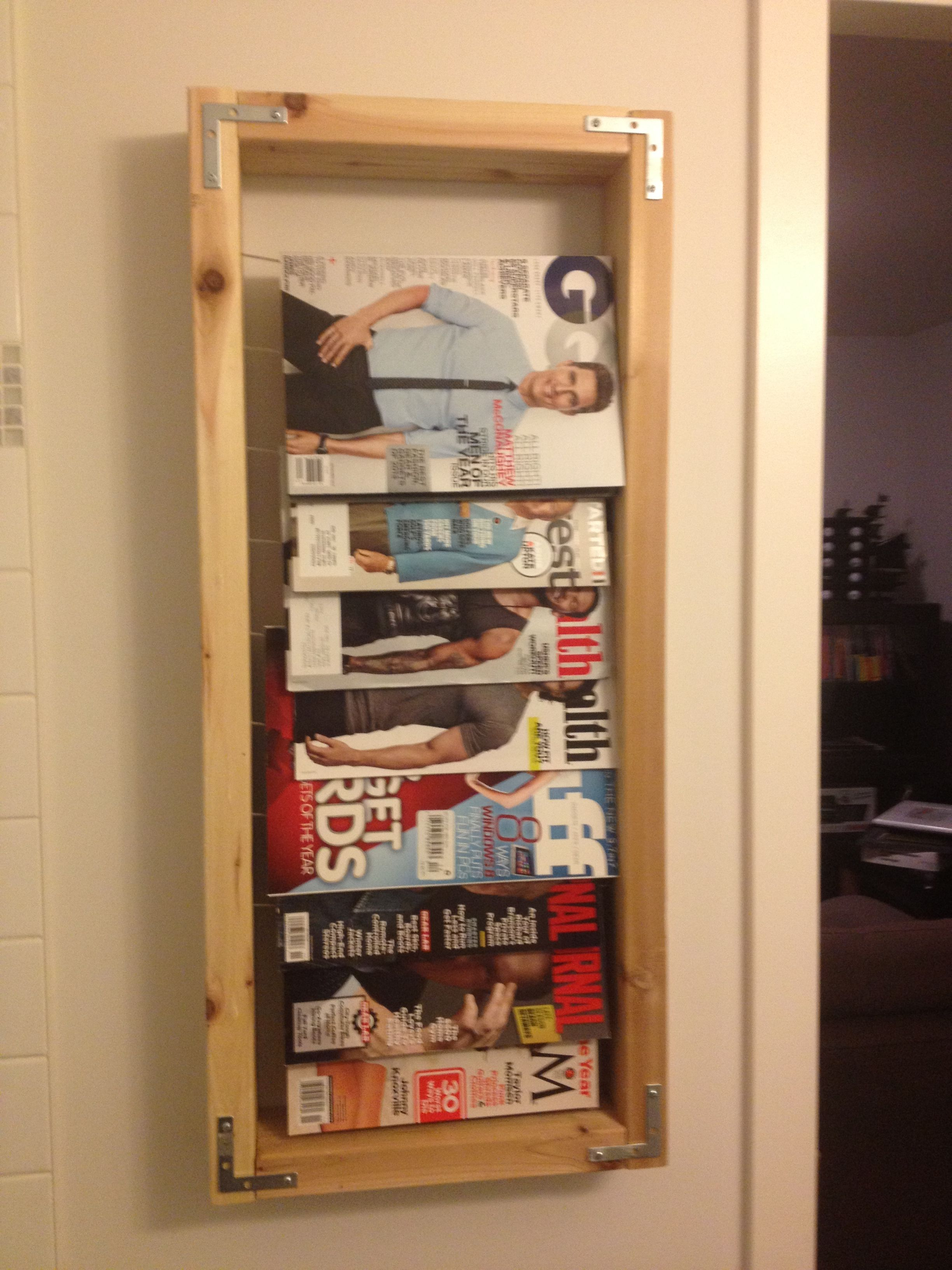 Completed Diy Magazine Rack