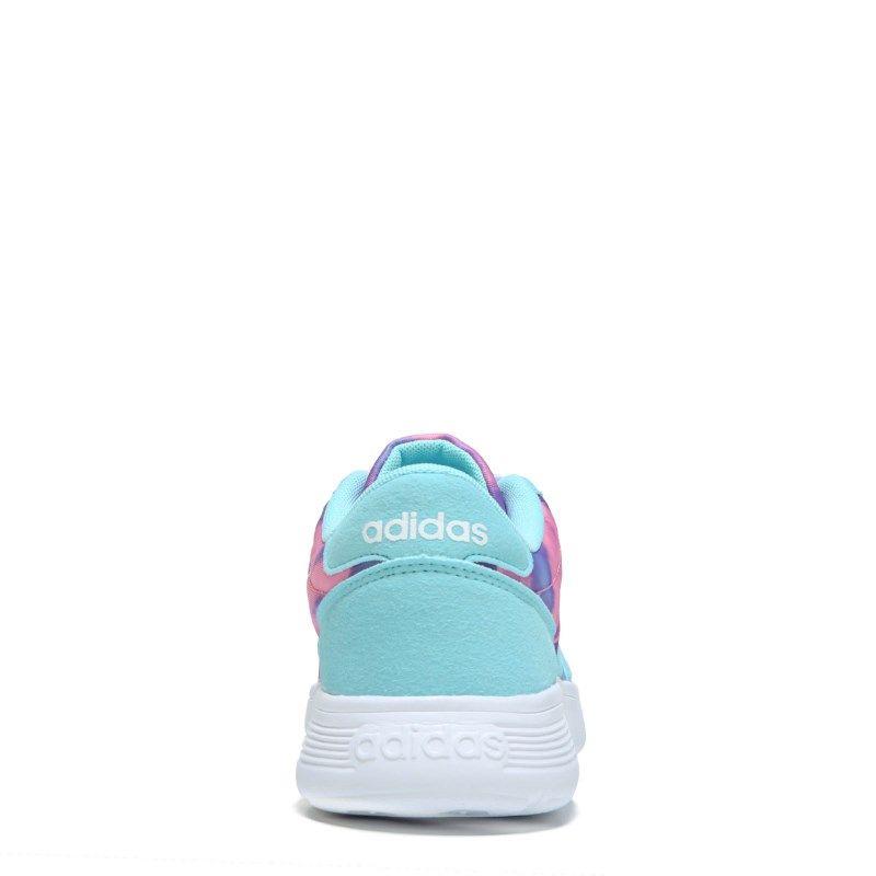 b4a8b929877559 Adidas Kids  Lite Racer K Running Shoe Pre Grade School Shoes (Purple Turq)  - 4.0 M
