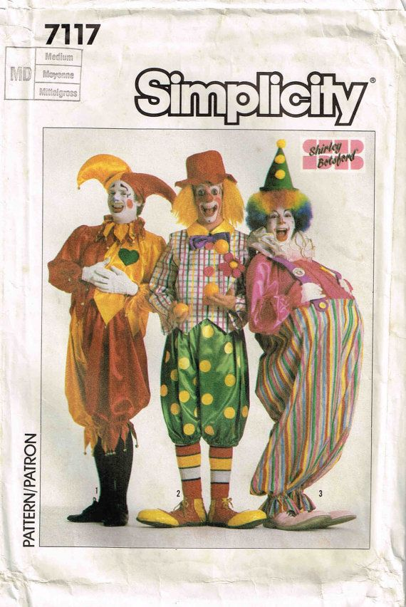 Adult Court Jester Clown Hobo Harley Quinn Gotham Sewing Pattern Halloween Costume Simplicity 7117 By PeoplePackages & Sewing Patterns Halloween Costumes u0026 Butterick 3051 Childrens Pig ...